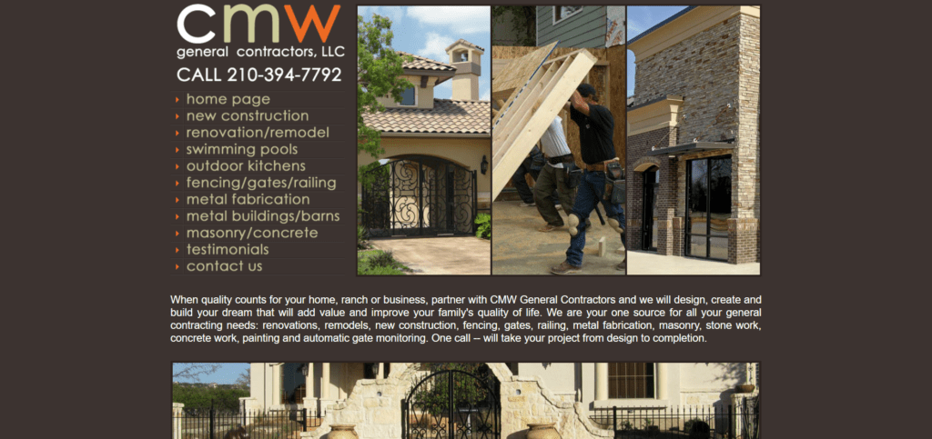 CMW General Contractors Old Website