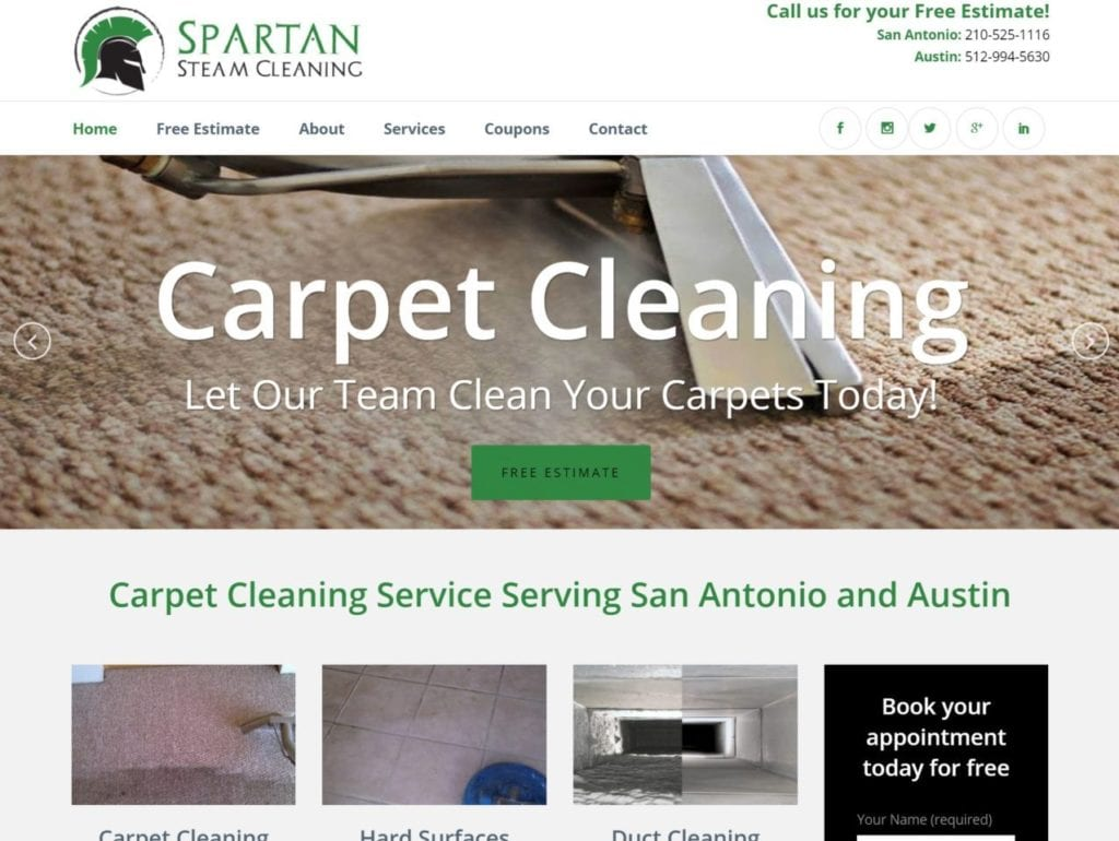 San Antonio Website Build Spartan Steam Cleaning